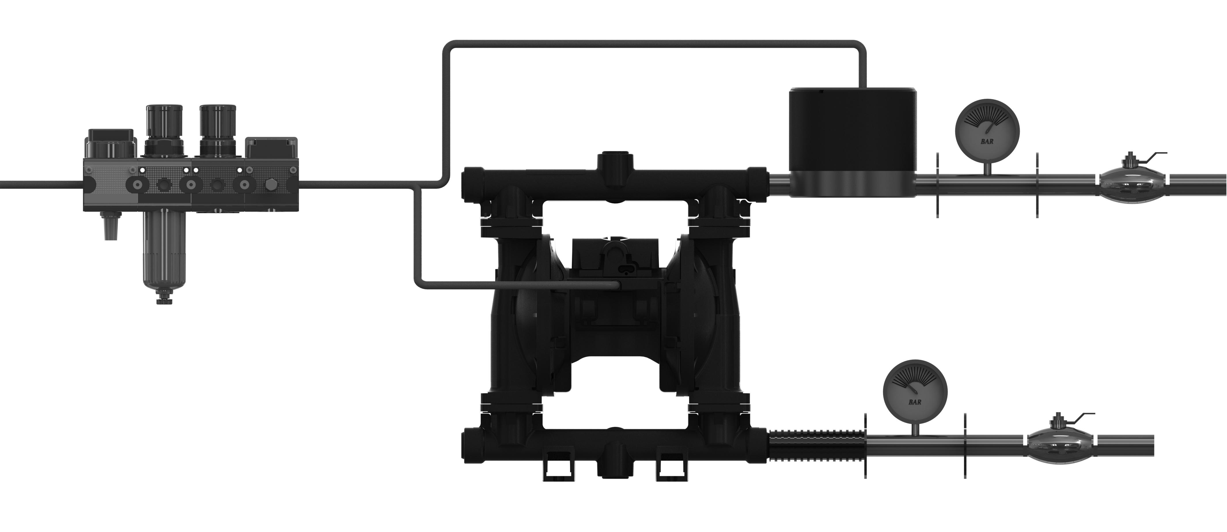 Aktiver Inline-Pulsationsdämpfer